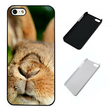 Cute bunny nose plastic phone case Fits iPhone