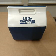 Vintage 80s igloo Little Playmate Lunch Box Cooler Blue & White 1988