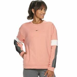 NWT Women's Nike Therma Long-Sleeve Training Top Sweatshirt Pink Quartz