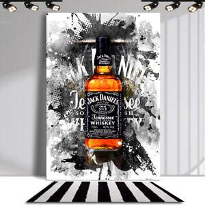 JACK DANIELS Whisky Bar & Club Abstraktes Bilder Leinwand Wandbild XXXL 3754A