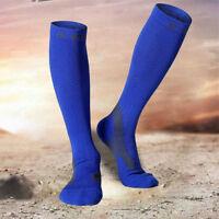 1pair Mens High Tube Compress Socks Football Soccer Marathon Running Camping