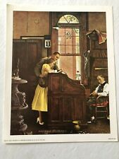 "Norman Rockwell 1960/'s Skyscraper print /""THE WINDOW WASHER/""  11/"" x 15/"" mad men"
