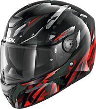 NEU SHARK Helm D-Skwal Kanhji schwarz rot Gr. XL 61/62 Motorradhelm Sonnenblende