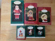 Lot of 6 Hallmark Keepsake Collector's Club Ornaments