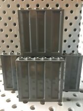 Lego Container Wall 1x6x5 Dark Gray Wall Panel Element Lot Of 4