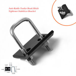 Auto Trailer Hook Hitch Tightener Stabilizer Bracket Anti-Rattle Mount Clamp