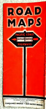 Pacific Coast Highway Association Road Map 1931 w. Mileage Tables Rare