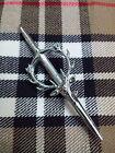 Scottish KILT PIN STAG HEAD Chrome Finish/STAG HEAD CREST MOUNTED KILT PIN