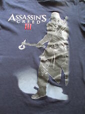 Assassin's Creed III 3  Navy Blue White Red T Shirt S Small M Medium