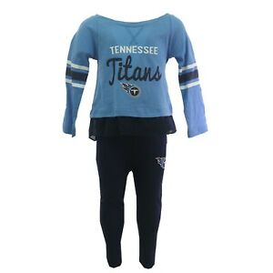 Tennessee Titans Official NFL Toddler Girls Size Long Sleeve Shirt & Pants Set