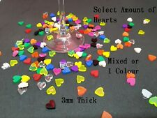 Acrylic Heart Confetti Table Scatter Hearts Card Decoration Embellishment 10mm