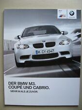 Prospekt BMW M3 E92 Coupe E93 Cabrio 4.0 420 PS V8 Modelle 2012 2013 D brochure