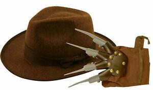 Halloween Freddy Style Burned Burnt Glove Hand Hat Nightmare Fancy Dress