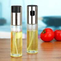 Vidrio Pulverizador de aceite de oliva Botella Vinagre Dispensador Cocina BBQ