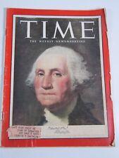 Time Magazine-July 6, 1953-Vintage-George Washington
