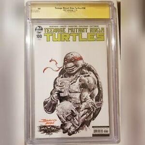 IDW Teenage Mutant Ninja Turtles 100 SS CGC 9.8 Black Flag Desjardins Sign/sketc