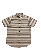 COLUMBIA Men's Shirt REGULAR FIT Short Sleeve Multicolored Striped  Size S