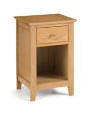 Salerno 1 Drawer Bedside Table Solid Oak Natural Finish Shaker Style