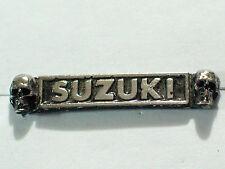 Vintage Suzuki Skull Name Motorcycle Pin