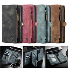 Genuine Leather Wallet Case Detachable Phone Cover for Samsung iPhone 12 Pro/11