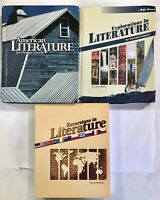 BJU Literature LOT Explorations Excursions American Literature 7 8 11 textbooks