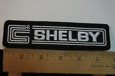 "Shelby Ford Cobra Iron-on Embroidered Patch 5.75""x1.75"""