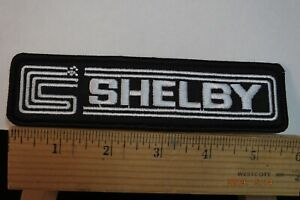 """Shelby Ford Cobra Iron-on Embroidered Patch 5.75""""x1.75"""""""