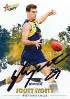 ✺Signed✺ 2017 WEST COAST EAGLES AFL Card SCOTT LYCETT