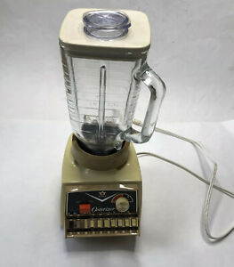 Vintage Osterizer Imperial Dual Range Touch A Matic 14 Blender 1970S Glass WORKS