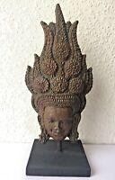 Statuette APSARA DANSEUSE ANGKOR VAT Khmer papier mâché recyclé Cambodge Asie