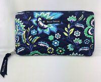 "Bella Taylor Accordion Wristlet Wallet 4""x7""x.625""  Floral Blue Green New"