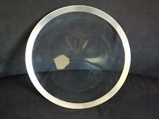 """MIB Dorothy Thorpe Sterling Silver Crystal Platter Tray 14 3/4"""" Label & Care Tag"""