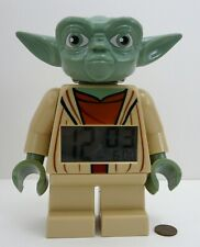 "LEGO STAR WARS YODA ALARM CLOCK 7"" Figure Digital Light Up Display Battery 2010"