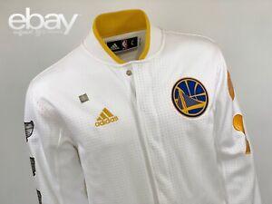2015 adidas Team Issued Game Worn-Golden State Warriors Banner Jacket - sz. L