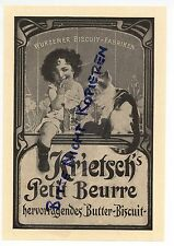 Wurzen, advertising 1911, wurzener Biscuit factories F. krietsch Butter Biscuit Pastry