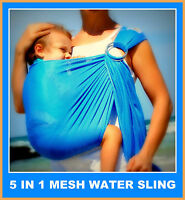 Walkabout Baby Ring Sling Water Mesh Summer Beach Swimming Pool Carrier RRP$59