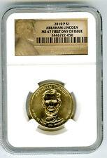 2010 P LINCOLN PRESIDENTIAL DOLLAR NGC MS67 FIRST DAY OF ISSUE RARE