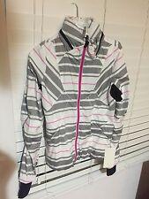 Lululemon Run Hustle Jacket -traverse stripe paris perfection/black- Size 6 NWT