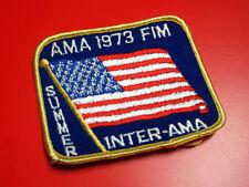 JERSEY PATCH • NOS AMA 1973 FIM Inter-AMA Motocross Mikkola Vintage MX Husqvarna
