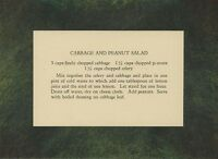 VINTAGE RECIPE CARD CABBAGE PEANUT CELERY SALAD NEW PASTEL BORDER ART PRINT