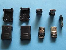 500 pcs USB Male Plug Micro 5 pin Connector with Plasitc Handle New