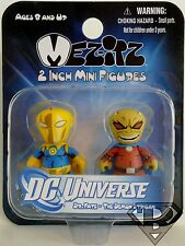 "DR. FATE & THE DEMON ETRIGAN DC Universe Mez-itz 2"" inch Mini Figures Mezco 2014"