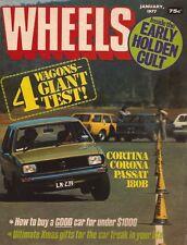 Wheels Jan 77 180B Cortina Sunbird Kombi HX Kingswood Passat Corona  News:
