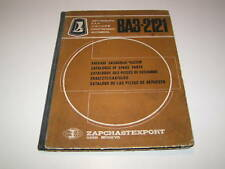 Catalogue de Pièces de Rechange Lada Niva Vaz 2121 - Stand 1978