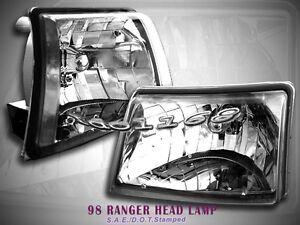 1998 1999 2000 Ford Ranger XLT Crystal Clear Headlights