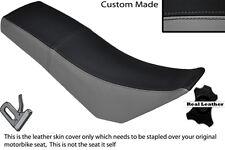 BLACK & GREY CUSTOM FITS DERBI SENDA BAJA 125 DUAL LEATHER SEAT COVER