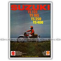 PUB SUZUKI TS 125 185 250 400 - Original Advert / Publicité Moto de 1976