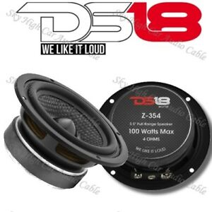 "DS18 Elite Z 354 "" Mid Hi Range Speaker 100 Watts Max Power Replacement 4 Ohm"