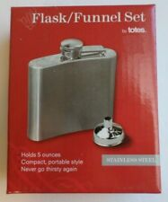 NEW Totes Flask/Funnel Set Stainless Steel Holds 5 Ounces
