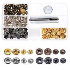 100pcs Push Button Set Stainless Steel 12.5mm Tarpaulin Camping Sewing kit